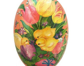 Germany Papier Paper Mache Easter Egg Box 6 Inch  # 524 M
