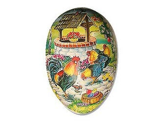 "Germany Papier Paper Mache Easter Egg Box  3-1/2""  PME407P"