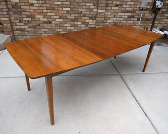 "93"" mid century MODERN walnut dining table"