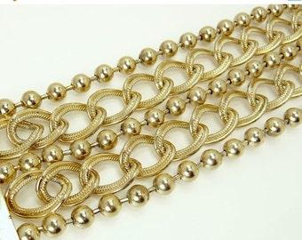 Vintage Multi Chain Bracelet Statement Jewelry