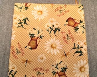 DAISIES MICROWAVE POTATO Bag, for microwave oooking, kitchen, potato bag, housewarming, birthday, gifts, holiday