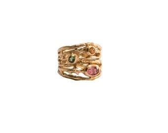 18K Spring Branch Ring
