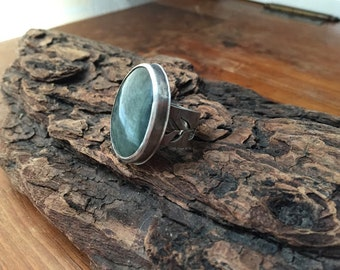 Green Chrysoprase Ring Silversmith - Metalsmith Jewelry