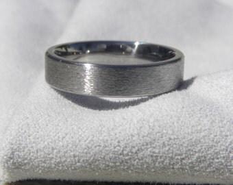 Titanium Ring, Wedding Band, 5mm, size 10, Stone finish, Clearance