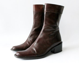 1990's Banana Republic Chestnut Brown Chelsea Boots