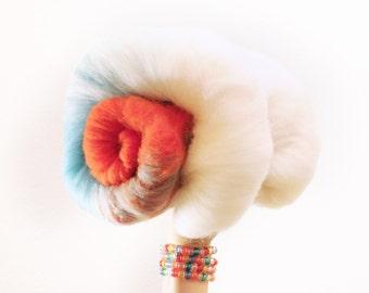 Cloud Harvest - Merino Wool Art Batt 2.9oz