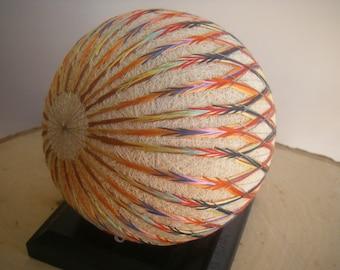 Hand made Temari ball (color)