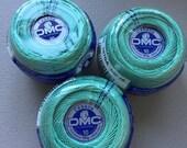 Cebelia DMC size 10 thread color 992 green
