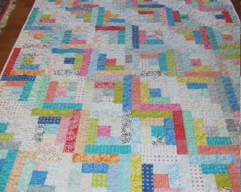 Blueberry Park Quilt - Big Sister or Mom Size - Matching Baby Quilt also Available in my Shop - Karen Lewis Textiles