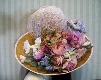 SALE, Kentucky Derby Hat, Victorian Tea Hat, Easter Hat, Preakness Hat, Belmont Stakes Hat, Ascot Hat, Garden Gala Hat