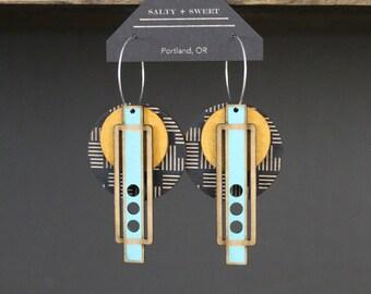 Laser cut earring | WRIGHT: Black