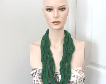 dark green jersey t-shirt necklace,dark green tshirt necklace,jersey tshirt necklace,jersey necklace,tshirt necklace,women,teen necklace