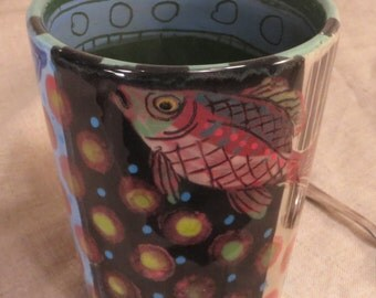 Fish Mug Stylish And Modern  Expressive Work By Pam Marwede