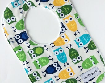 Owls Baby Bib - Bibs & Burping - Gift For Baby - Baby - Bib - Owls Bib - Baby Shower Gift - Gender neutral gift