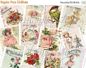 SALE LOVE STAMPS Collage Digital Images -printable download file-