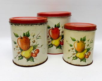 Sweet apple and pear canisters - set of 3 - Decoware
