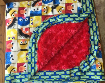 NEW - Sesame Street Minky Blanket- Lap Sized Minky Blanket...Ready to Ship