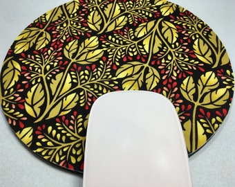 Buy 2 FREE SHIPPING Special!!   Mouse Pad, Fabric Mousepad   Triple Leaves
