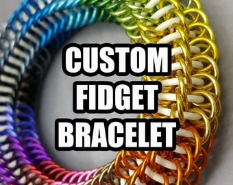 CUSTOM Blackmaille Chainmaille Fidget Bracelet - You Choose The Colours!