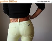 ON SALE 1980s Leather Thunderbird Belt~Size Extra Small to Medium
