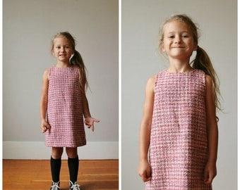 25% OFF SALE 1990s Parisian Tweed Dress >>> Size 4t