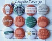 Starbucks PSL Buttons