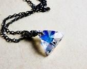 Crystal Necklace, Crystal Triangle, Swarovski Triangle, Crystal Pendant, Rainbow Prism, Sterling Silver, Crystal Jewelry, Geometric Jewelry