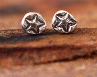 Classic Star studded post earring - sold as single earring- buy two for a  pair