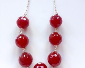 statement necklace, cornelian, chunky orange necklace .