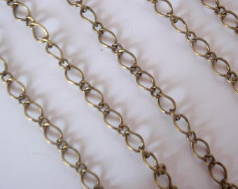 5 Feet Chain, Antique Bronze Color, Lead, Nickel & Cadmium Free, Finding Supply long 5 X 8 mm, 1 MM thick and short 4x3.5mm, 0.8mm thick