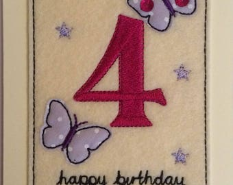Age 4 - 4th Birthday Card