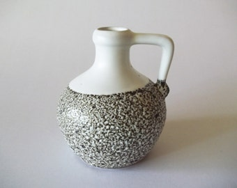 "Pigeon Forge Pottery, Douglas Ferguson, Vase/Jug Brown Lava/Volcanic/Crater Glaze, Signed ""DF"", Tennessee, USA"