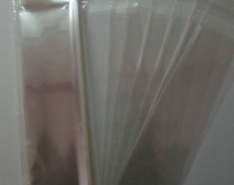 AF2148  50 Clear Packaging Treat Bag Sleeve Bookmark Lollipop Envelopes 2 1/4 x 8 1/2 (6.4cm x 21.6cm)