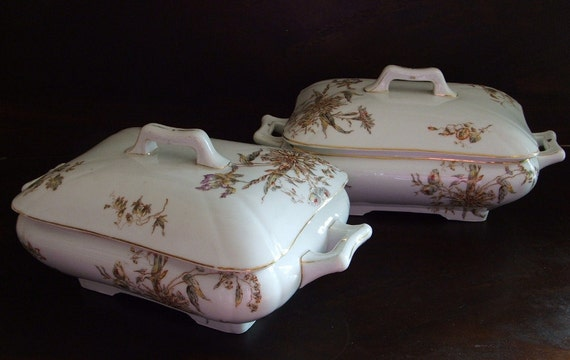 two antique tureens