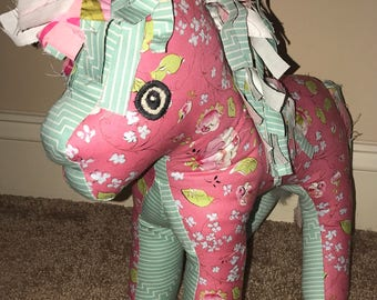 Medium Pony stuffed animal in U- pick colors