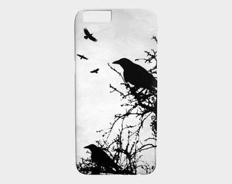 Cell Phone Case Design 43 Bird Crow Raven Tree - Iphone 7, 6/6s Plus, 5/5s, Samsung Galaxy S7 S6 Edge S5, S4, S3 art by L.Dumas