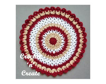 Colorful Mandala Crochet Pattern (DOWNLOAD) CNC35
