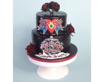 Custom Wedding Cake Replica, Custom Wedding Ornament, Unique Wedding Present, Anniversary Present, Personalised Cake Model Sculpture