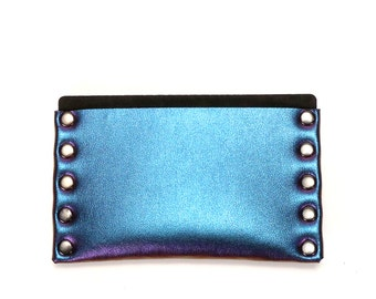 Cobalt Iridescent Slim Wallet | Thin Wallet | Card Holder | Mens Wallet | Wallet | Simple Wallet | Vegan | Made in USA