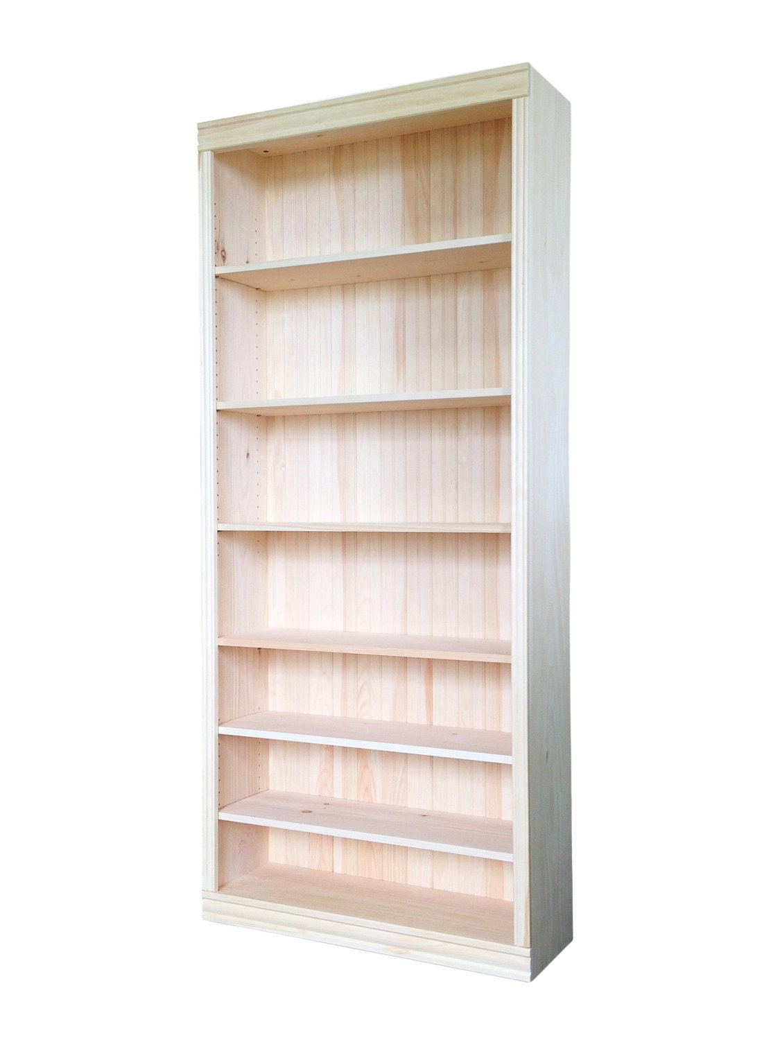 Solid pine bookcase w h d unfinished