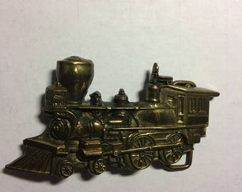 1970's Brass Steam Engine Belt Buckle