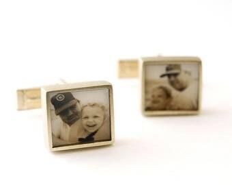 Custom  Personalized Photo Cufflinks