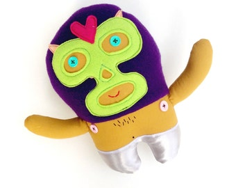 Luchador Doll // Handmade, One of a kind // Perfect gift