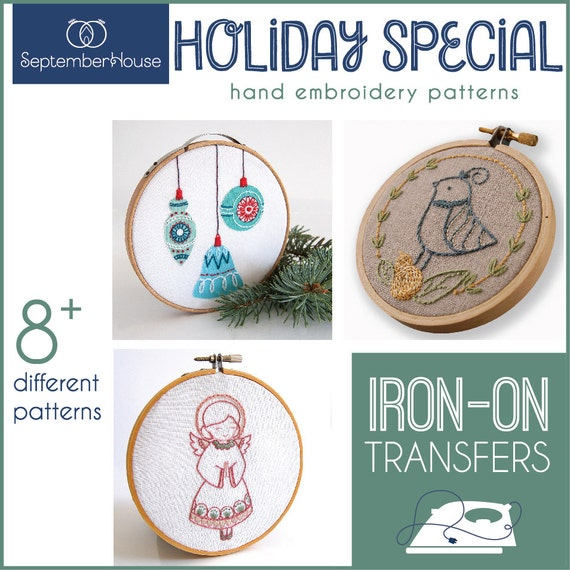 Embroidery patterns holiday special iron on transfers for
