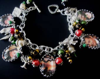 Gone With The Wind Bracelet, Gone With The Wind Jewelry, Photo Charm Bracelet Jewelry, Literary Charm Bracelet Jewelry, Book Lovers Jewelry