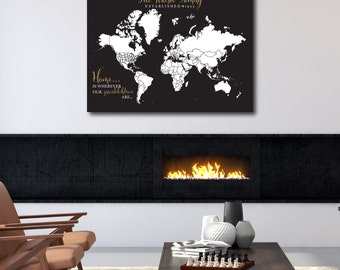 World travel map world travels map map art world map personalized world map print woodland nursery decor interactive pushpin map baby boy gift gumiabroncs Image collections