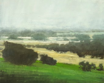 Fog Rolling In   Oil Painting   18 x 18