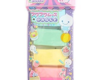 116015 Fuwa Fuwa paper clay Japan decoden 4 colours