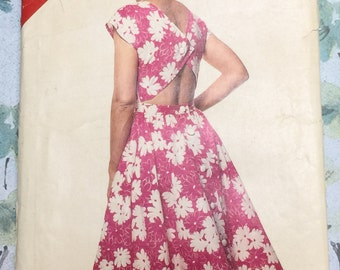 Butterick See & Sew 5636 Sundress Vintage Sewing Pattern Size 12 - 16 UNCUT