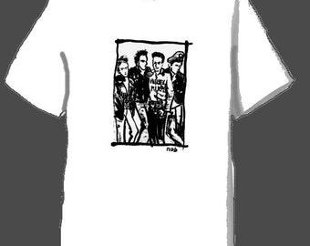 The Clash drawing Japanese brush  Tshirt